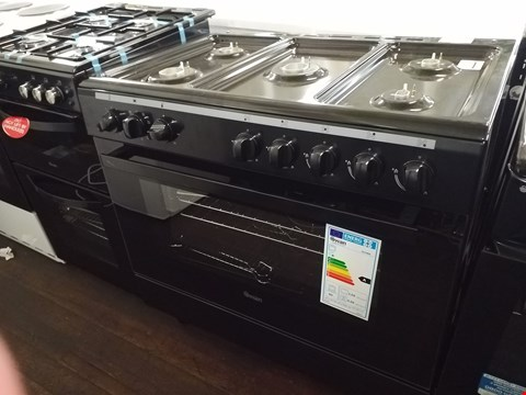 Lot 8538 SWAN SX2040B BLACK 90CM DUEL FUEL RANGE COOKER WITH 5 BURNER HOB RRP £519.00