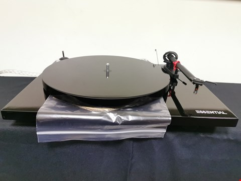 Lot 48 PRO-JECT ESSENTIAL III (BLACK) TURNTABLE RRP £319.00