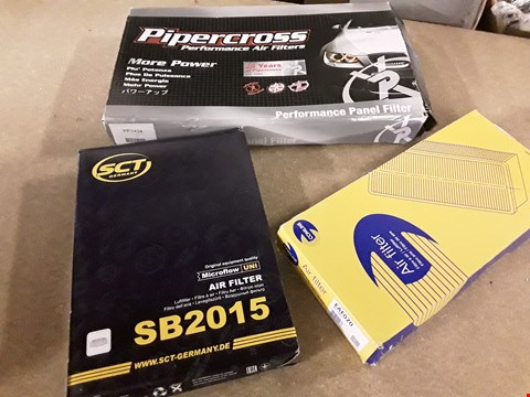Lot 3014 THREE ASSORTED AIR FILTERS, INCLUDING, PIPERCROSS PP1434, SCT SB2015 & COMLINE EAF020