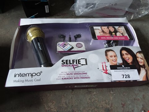 Lot 728 BOXED INTEMPO SELFIE SINGALONG KIT