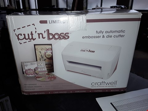 Lot 7392 BOXED LIMITED EDITION CRAFTWELL CUT 'N' BOSS ALL-IN-ONE EMBOSSER AND DIE CUTTER