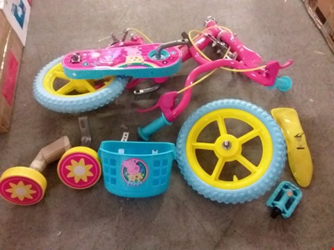 "Lot 2091 BOXED 12"" PEPPA PIG CHILDREN'S BIKE RRP £99.99"