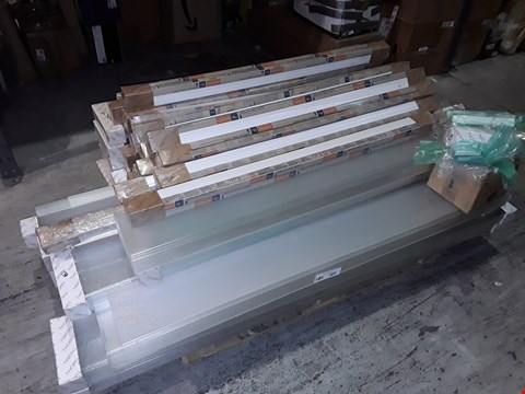 Lot 1134 PALLET OF ASSORTED BRAND NEW LIGHTING & ELECTICAL ITEMS TO INCLUDE THORN POPPACK PRISMATIC DIFFUSERS, BATTENS AND FITTING PIECES, HDMI LEADS, PIR FLOODLIGHTS, VENT-AXIA FANS, LED FLOODLIGHTS ETC