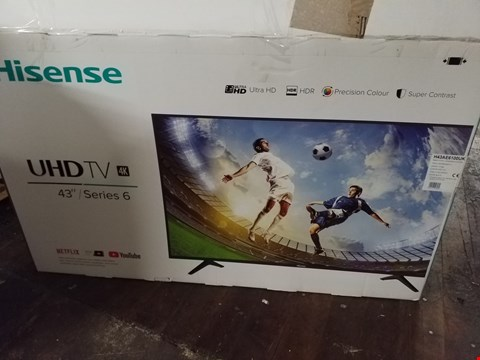Lot 3631  H43AE6100UK, 43 INCH, 4K ULTRA HD, HDR, FREEVIEW PLAY, SMART TV DAMAGED RRP £339.00