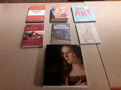 Lot 471 LOT OF APPROXIMATELY 7 ASSORTED ARTS AND MUSIC BOOKS TO INCLUDE THE LONDON MAGAZINE OCTOBER/NOVEMBER 2014 EDITION, FAST ART BY BEV SPEIGHT, JUNGIAN FILM STUDIES SERIES EDITOR LUKE HOCKLEY ETC