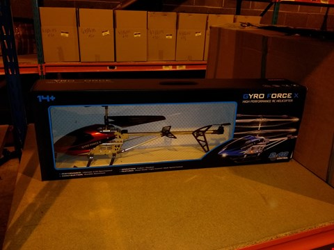 Lot 6098 GYRO FORCE X HIGH PERFORMAMCE RC HELICOPTER - RED