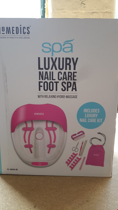 Lot 58 HOMEDICS LUXURY NAIL CARE FOOT SPA