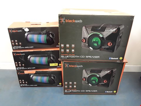 Lot 7037 LOT OF APPROXIMATELY 5 ASSORTED BLACKWEB BLUETOOTH SPEAKERS