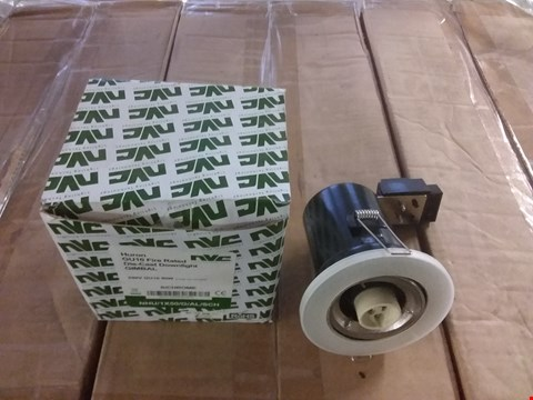 Lot 3030 BOX OF 20 BRAND NEW HURON GU10 FIRE RATED GIMBAL DIE-CAST DOWNLIGHTS