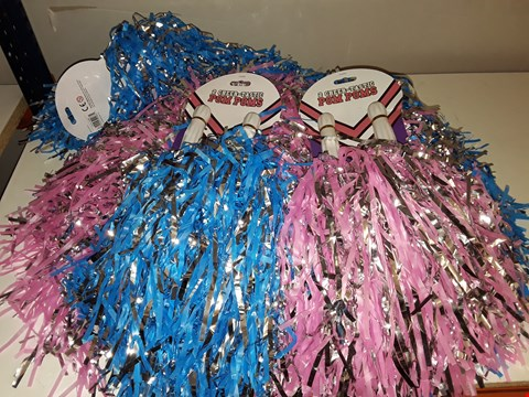 Lot 151 LOT OF CHEER-TACTIC 2 PACKS OF POM POMS IN PINK/BLUE