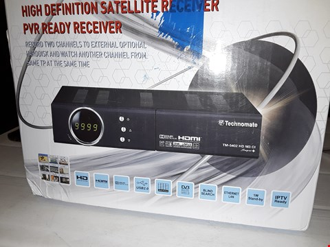 Lot 12429 TECHNOMATE HIGH DEFINITION SATELLITE RECEIVER