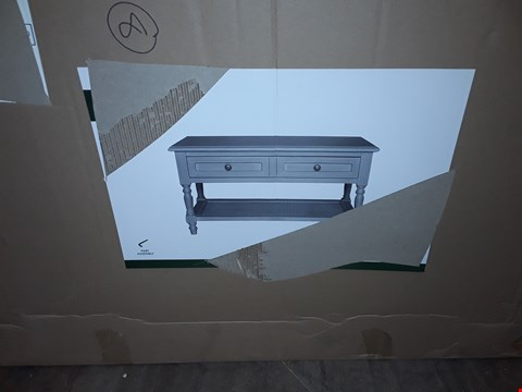 Lot 3097 BOXED DESIGNER LUCY GREY 2 DRAWER TABLE