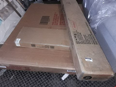 Lot 1195 PALLET OF ASSORTED FLAT PACK FURNITURE/PARTS