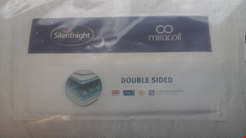 Lot 1269 QUALITY BAGGED SILENTNIGHT MIRACOIL DOUBLE SIDED 5FT MATTRESS