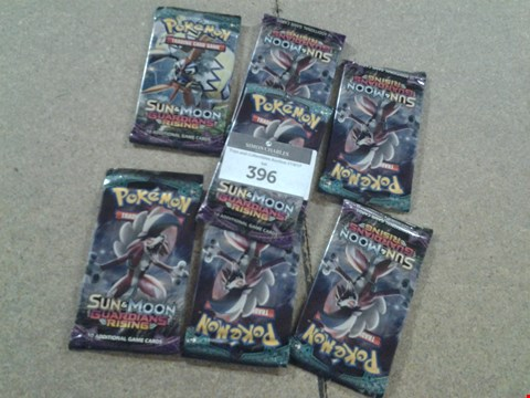 Lot 396 7 PACKS OF POKEMON SUN AND MOON GUARDIANS RISING CARD PACKS