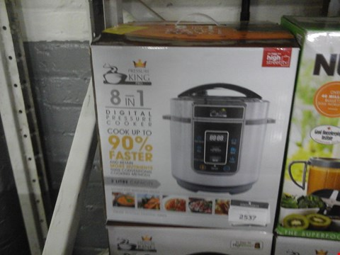 Lot 39 BOXED PRESSURE KING PRO 3L 8 IN 1 DIGITAL PRESSURE COOKER