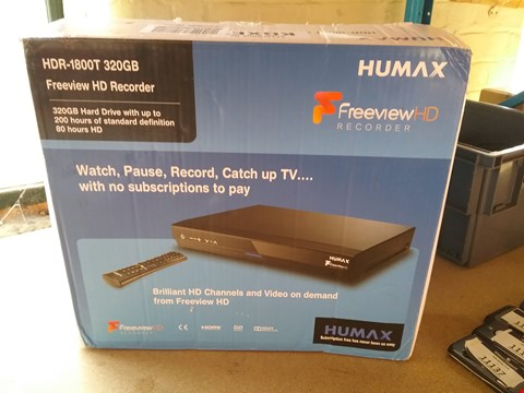 Lot 11143 HUMAX 320GB FREEVIEW IS RECORDER - HDR-1800T