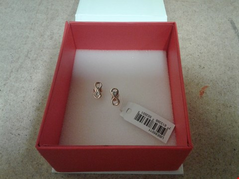 Lot 9038 GUESS ROSE GOLD PLATED INFINITY SYMBOL EARRINGS RRP £111.00