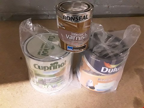 Lot 41 BOX OF ASSORTED ITEMS TO INCLUDE  CUPRINOL GARDEN SHADE, DULUX EASY CARE ASHABLE & TOUCH ETC