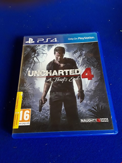 Lot 7656  UNCHARTED 4 PLAYSTATION 4 GAME