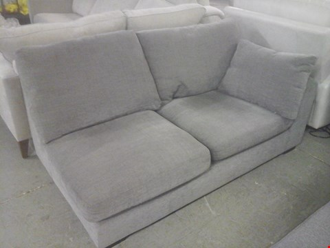 Lot 44 QUALITY DESIGNER GREY FABRIC SOFA SECTION