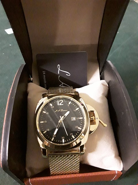 Lot 396 BOXED L A BANUS GOLD STRAP MEN'S WRIST WATCH