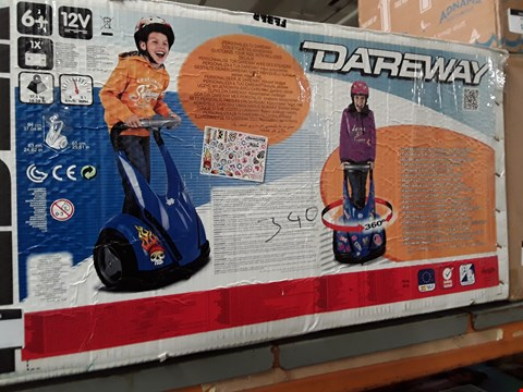 Lot 1396 BLUE 12V DAREWAY ELECTRIC RIDE ON  RRP £219.99
