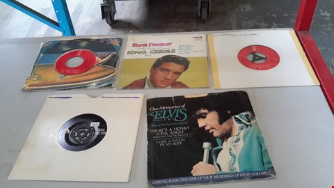 "Lot 9075 LOT OF 5 ASSORTED ELVIS PRESLEY 7"" VINYL RECORDS INCLUDING KING CREWE,  LOVER ME TENDER ETC"