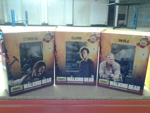 Lot 340 3 BOXED AMCS THE WALKING DEAD COLLECTORS MODELS TO INCLUDE; MERLE, GLENN AND TYREESE
