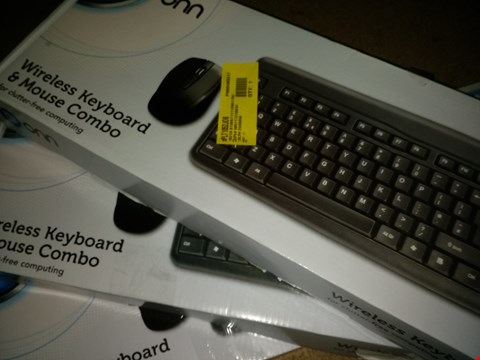 Lot 1161 LOT OF 3 ONN WIRELESS KEYBOARD AND MOUSE COMBO PACKS