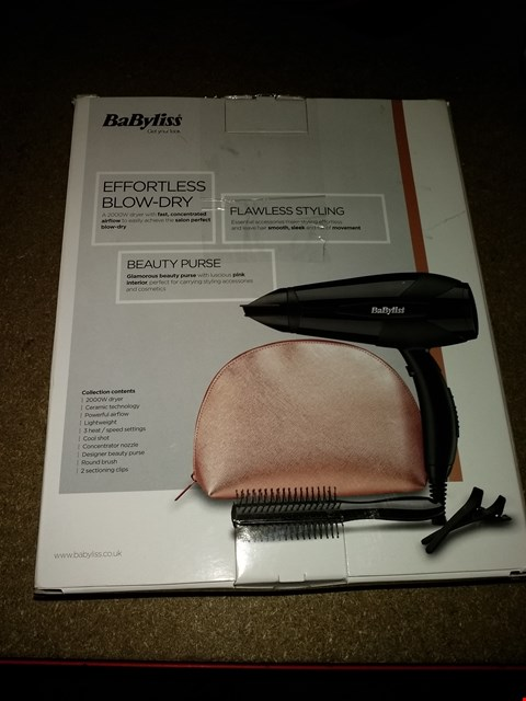 Lot 300 BABYLISS THE SPIRIT HAIR DRYER AND STYLING ACCESSORIES
