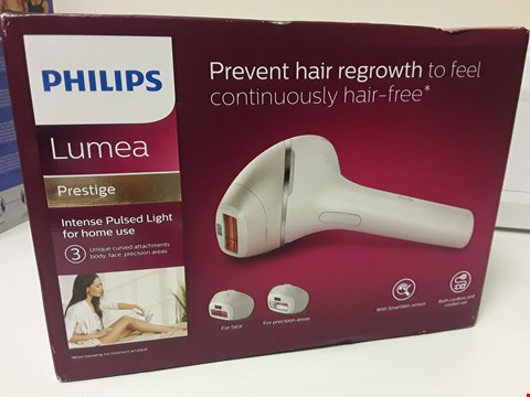 Lot 4684 BOXED PHILIPS LUMEA PRESTIGE PULSED LIGHT HAIR REMOVER