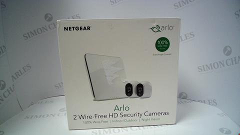 Lot 17239 ARLO 2 WIRE FREE HD SECURITY CAMERAS