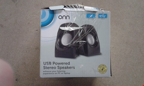 Lot 733 BOXED ONN USB POWERED STEREO SPEAKERS