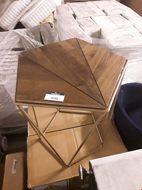 Lot 7038 DESIGNER CHARTER SIDE TABLE