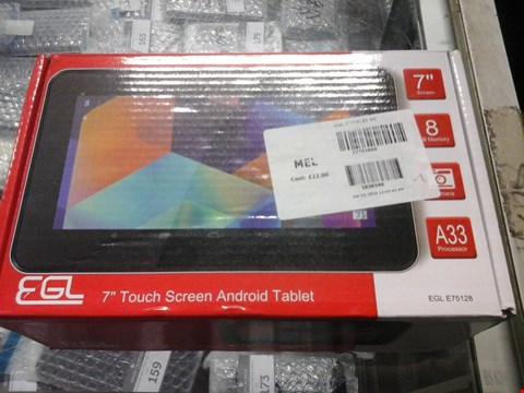 "Lot 1064 2 X BOXED EGL 7"" TOUCH SCREEN ANDROID TABLET"