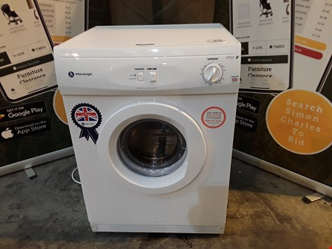 Lot 9008 WHITE KNIGHT C44A7W 7KG VENTED TUMBLE DRYER RRP £170.00