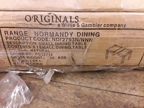 Lot 285 BOXED NORMANDY DINING SMALL NATURAL WOOD DINING TABLE