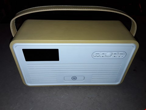 Lot 759 VQ RETRO MK II DAB & DAB+ DIGITAL RADIO WITH FM, BLUETOOTH, APPLE LIGHTNING DOCK & ALARM CLOCK