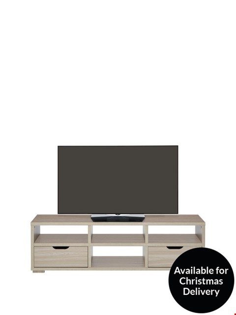 Lot 2003 BOXED GRADE 1 OAK-EFFECT ZEUS LARGE TV UNIT (1 BOX) RRP £279.99