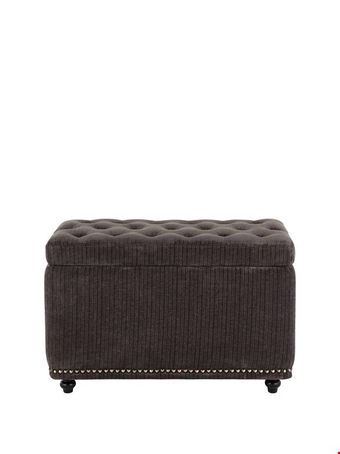 Lot 1051 BRAND NEW BOXED DESIGNER LAURENCE LLEWELYN-BOWEN RAFFLES FABRIC OTTOMAN (1 BOX) RRP £169