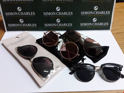 Lot 102 LOT OF 6 ASSORTED PAIRS OF GLASSES TO INCLUDE RIVER ISLAND AND HEXAGONAL OVERSIZED DESIGNS