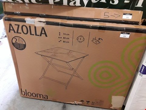 Lot 125 BOXED BLOOMA AZOLLA 4-SEATER STEEL GARDEN RABLE