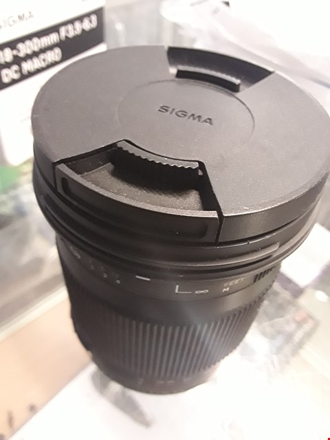 Lot 3 SIGMA 18-300MM F/3.5-6.3 LENS RRP £499.99