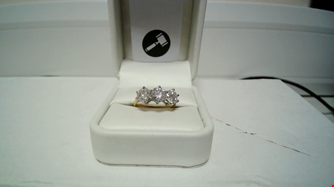 Lot 4 18CT GOLD THREE STONE RING SET WITH DIAMONDS WEIGHING +3.18CT RRP £11985.00