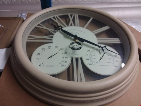 Lot 5043 BOXED BRAND NEW EXETER WALL CLOCK & THERMOMETER  RRP £40.00