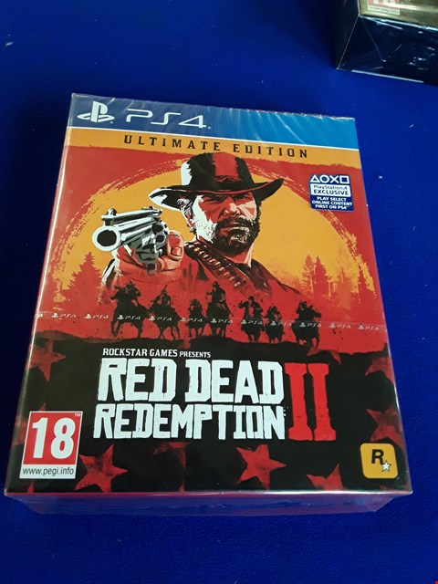 Lot 7624 RED DEAD REDEMPTION II ULTIMATE EDITION PLAYSTATION 4 GAME