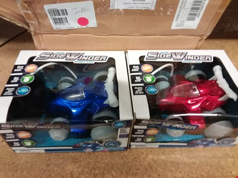 Lot 246 LOT OF 2 SIDWINDER STUND CARS - RED AND BLUE