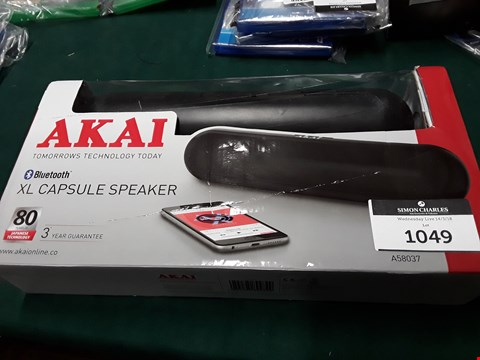 Lot 1049 BOXED AKAI XL CAPSULE SPEAKER RRP £65