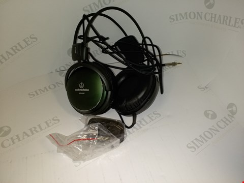 Lot 17545 AUDIO-TECHNICA ATH-A990Z OVER-EAR HEADPHONES - DEEP METALLIC FOREST GREEN